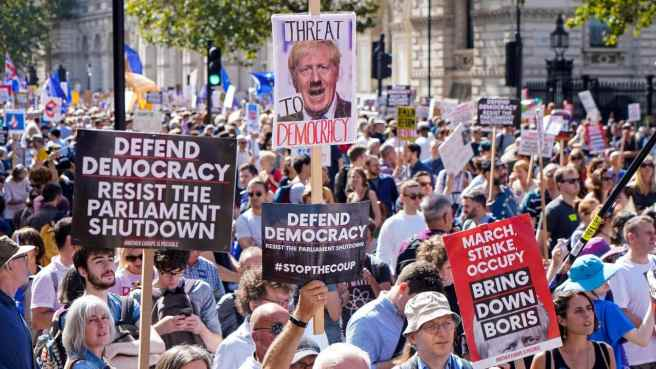 Brits Protest