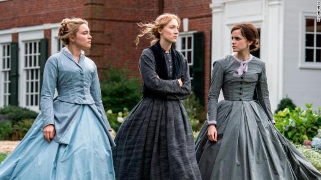 Florence Pugh, Saoirse Ronan and Emma Watson in Greta Gerwig's LITTLE WOMEN.